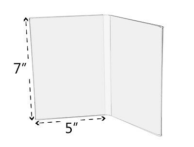 """5""""W x 7""""H Book Style Table Sign Holder, Photo Frame (Lot of 12)"""