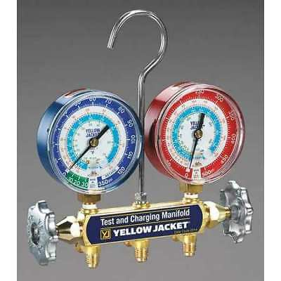 Mechanical Manifold Gauge Set,2-Valve YELLOW JACKET 42005