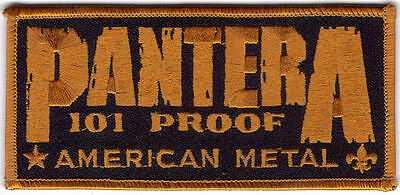 PANTERA 101 PROOF AMERICAN METAL EMBROIDERED PATCH !