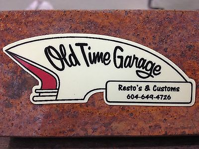 Old Time Garage Decal for your hot rod (Resto's & Customs)