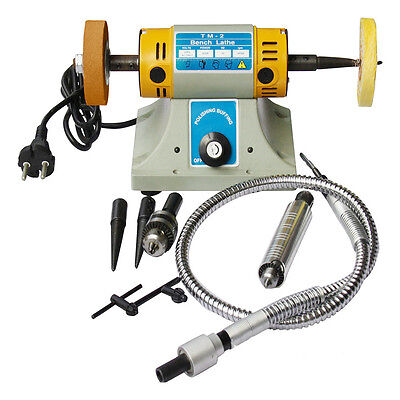 Multifunctional Bench Grinder Lathe Machine Electric  Polisher & Accessory 220V