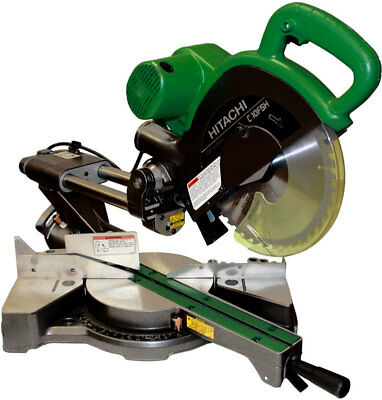 "10"" Sliding Dual Compound Miter Saw PLUS Laser Marker Hitachi C10FSHPS New"