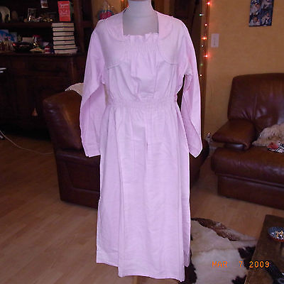 Chemise De Nuit Vintage Ann 50 Rose Drage T38/40 / Pink Night Dress Vintage 50
