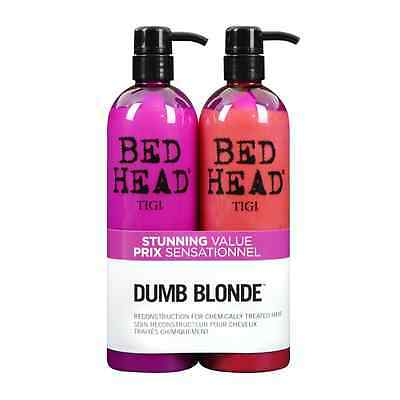 TIGI Bed Head Colour Combat Dumb Blonde Shampoo & Conditioner 750ml Tween