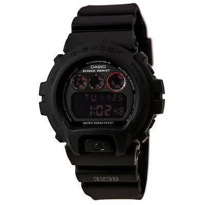 Casio DW6900MS-1 Men's G-Shock Military Alarm Tough Black Resin Band Watch
