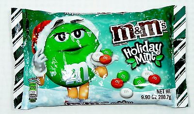 9.90 0z M&M's HOLIDAY MINT Flavored Chocolate Candies
