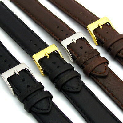 Soft Genuine Leather watch Strap Band Choice of Colour D001 16mm 18mm 20mm 22mm