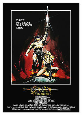 Conan the Barbarian (1982) - A1/A2 Poster **BUY ANY 2 AND GET 1 FREE OFFER**