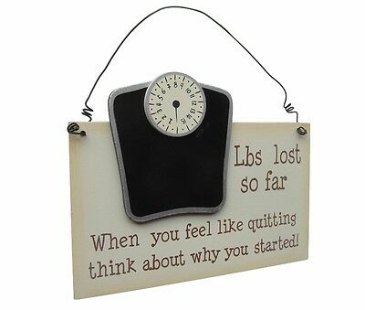 Weight Loss Plaque - Wooden Hanging Record Plaque  Slimming Motivation Diet