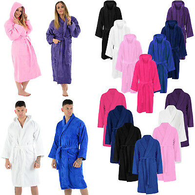 100% Luxury Egyptian Cotton Velour Towelling Bath Robe Terry Towel Soft Bathrobe