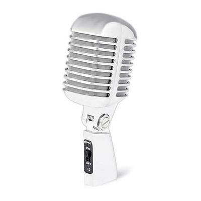 PylePro Classic Retro Die Cast Metal Vintage Style Vocal Microphone, Silver