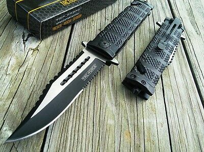 TAC FORCE TACTICAL SPRING ASSISTED FOLDING KNIFE Blade Assist Open Pocket 8.5""