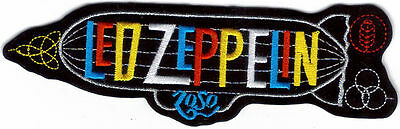 Led Zeppelin Color Logo Blimp & Symbols Embroidered Patch !