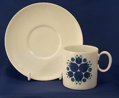 A Thomas 'pinwheel' Blue Coffee Can And Saucer