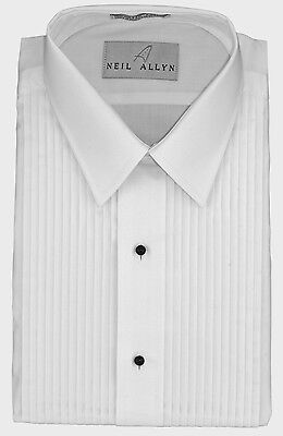 "NWT. Size XS - L. Boy's Lay-Down, Collar 1/4"" Pleats Tuxedo Shirt."