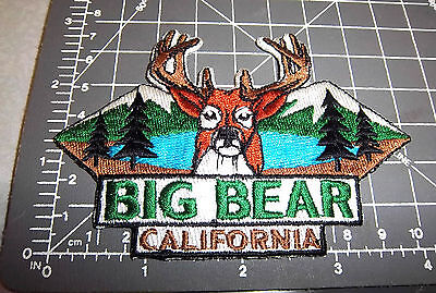 Big Bear Lake California Deer with Large Rack iron on embroidered patch