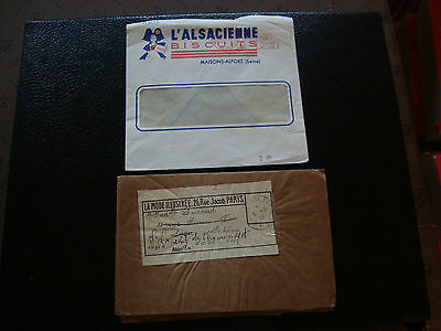 FRANCE - 2 enveloppes franchise (cy54) french