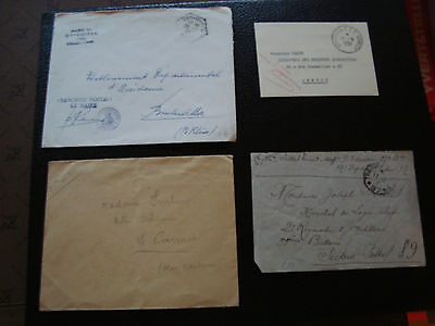 FRANCE - 4 enveloppes franchise (cy54) french