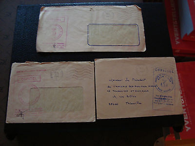FRANCE - 3 enveloppes franchise 1980 1981 1982 (cy54) french