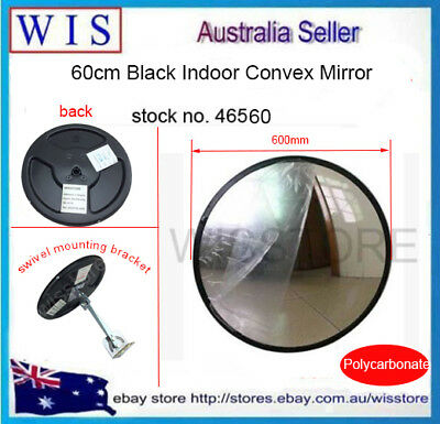 600mm Black Indoor Convex Security Safety Mirror,Unbreakable,Wide Angle-46560