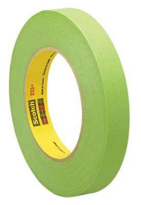 3M PREFERRED CONVERTER 233+ Masking Tape, Green, 1/8 In. x 60 Yd.