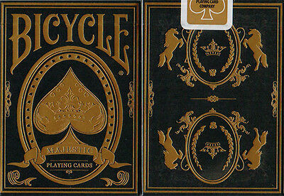 Majestic Bicycle Deck Limited Edition Black Gold Playing Cards Uspcc Magic Trick