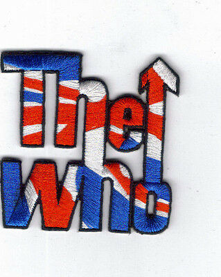 The Who British Flag Arrow Logo Embroidered Patch !