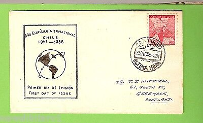 #d150.  1958  Chile First Day Cover