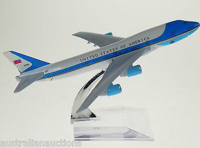 Air Force One Diecast Model Plane 15cm 747 Airforce 1 Aeroplane USA Airplane 16