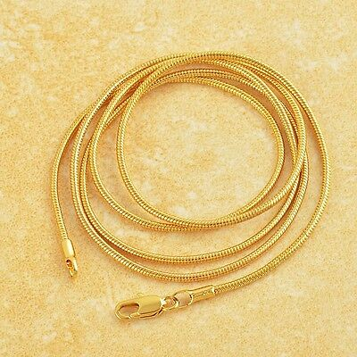 """Classic 9K Yellow Gold Filled Womens Necklace 24"""",Z1279"""