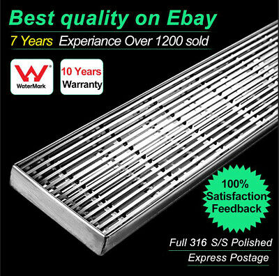 Designer Stainless Steel Linear Bathroom Shower Grate Drain Waste