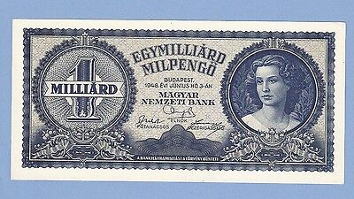 Hungary, 1 milliard billion (1000000000) milpengo, 1946, UNC, P 131