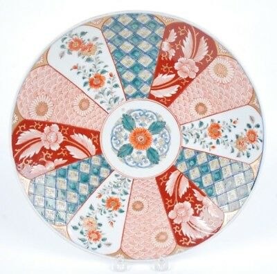 Vintage Large Porcelain Plate W/ Japanese Patterns And Christie's Tags