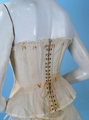 1870-80 SHORT SUMMER CORSET EXCELLENT WITH LACINGS