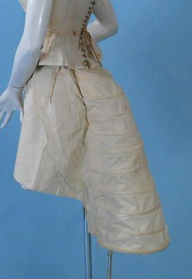 1880 RARE! LOBSTER TAIL BUSTLE CAGE COTTON EXCELLENT