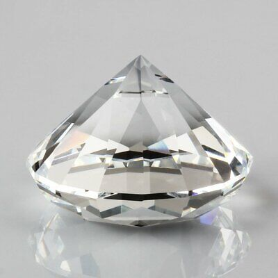Crystal White 40mm Paperweight Cut Glass Giant Diamond Jewel Decoration Crafts