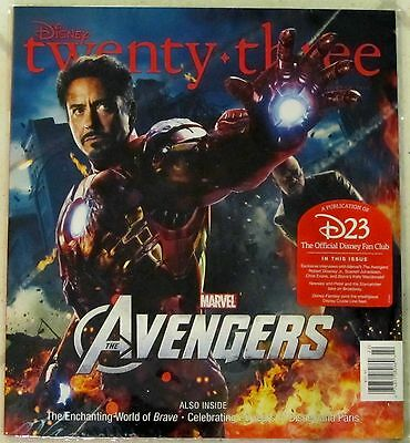 DISNEY Twenty-Three 23 SUMMER 2012 Marvel AVENGERS Iron Man COVER NIP BRAVE New