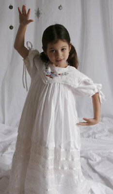 Hand-Embroidered _ Flower Girl Dress - Daniele _ Size 4