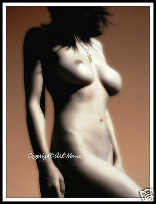 PERFECTION - Copper Styled Art Nude Art Print - Collect or Frame - AUS  16x20""