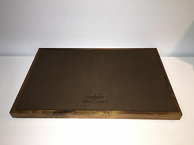 New - BREITLING Wood Base Stand Display Exposant Expositor - For Collectors