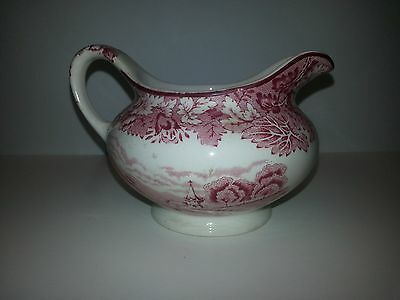 Vintage Enoch Woods Ware English Scenery England Pink Transferware Creamer