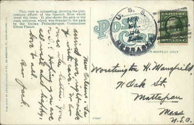 Battleship USS Nebraska Ship Cancel April 27th 1912 New Orleans View Postcard
