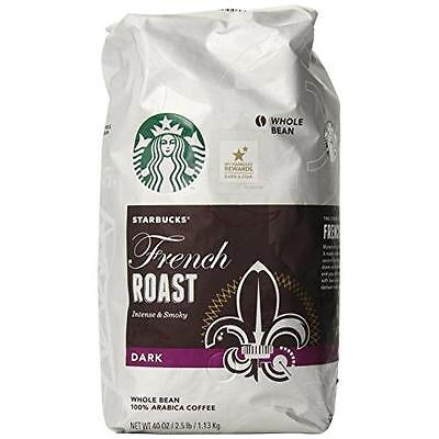 Starbucks French Roast Whole Bean Coffee, 40-Ounce New