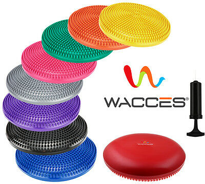 WACCES Fitness Stability Air Cushion Balance Wobble Disc With Pump 9 COLORS