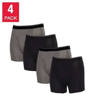 Kirkland Signature Men's Boxer Briefs (4 Pack) - BLACK  (Select Size) FAST SHIP