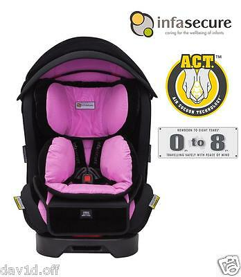Br New Quality Infa Luxi Caprice Convertible Child Baby Car Seat 0-8 years Pink