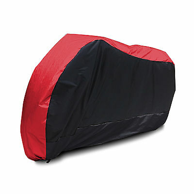 Motorcycle Street Bike Cover Waterproof Protective Rain Breathable XL Black Red