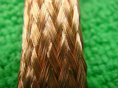 "1mX15mm 0.6"" Copper Braid Motorcycle Bike Cable Wire Protector Cover Sleeve"