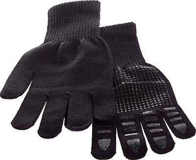 Brabo Hockey Winter Astro Gloves with gripping (a pair) Plain Black (no logos)