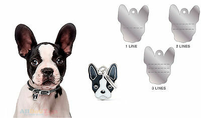Custom personalized dog tag Name id Free engrave free shipping Boston terrier
